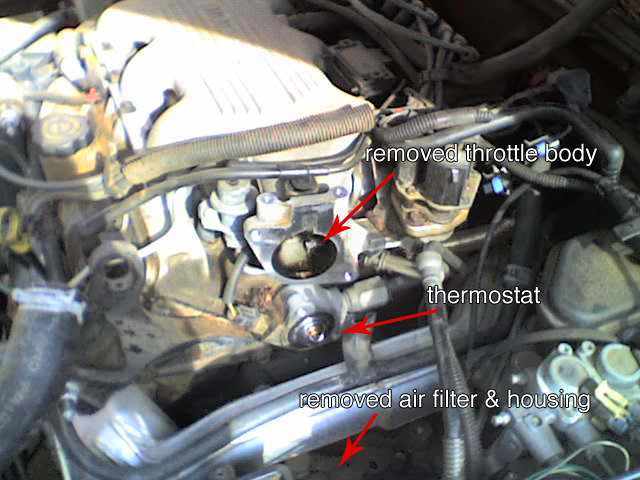 Thermostat Location Fyi The Thermostat On A 1995 Chevy