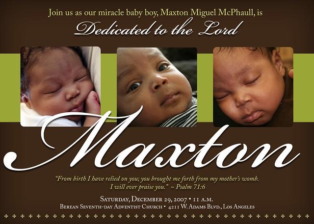 Dedication Invitation Designed By Majestic Design Group Flickr