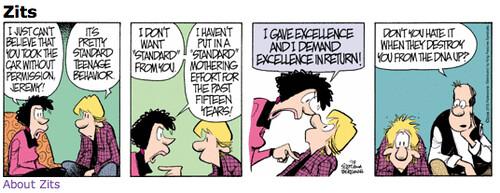Book report comic strip