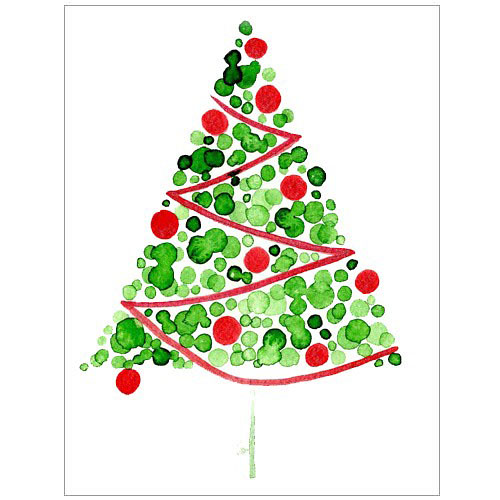 Christmas Decorations Watercolour Cards