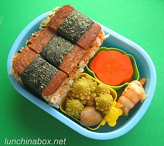 Spam musubi bento lunch for preschooler | by Biggie*