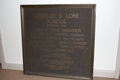 Charles B. Lore School Dedication Plaque | by swein515