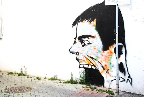cyprus graffiti head | by nicolien kegels / qussa