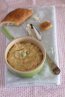 broccoli cheese soup and homemade baguette | by Madison Bistro