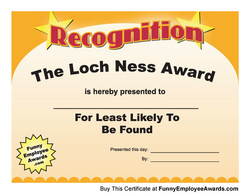 funny recognition awards - Ronni kaptanband co