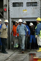 There is the constant possibility of strikes at the DeBeer's mines in South Africa, one the largest on the continent. The National Union of Mineworkers (NUM), an affiliate of COSATU, through a work stoppage could have a major impact on the world economy. | by Pan-African News Wire File Photos