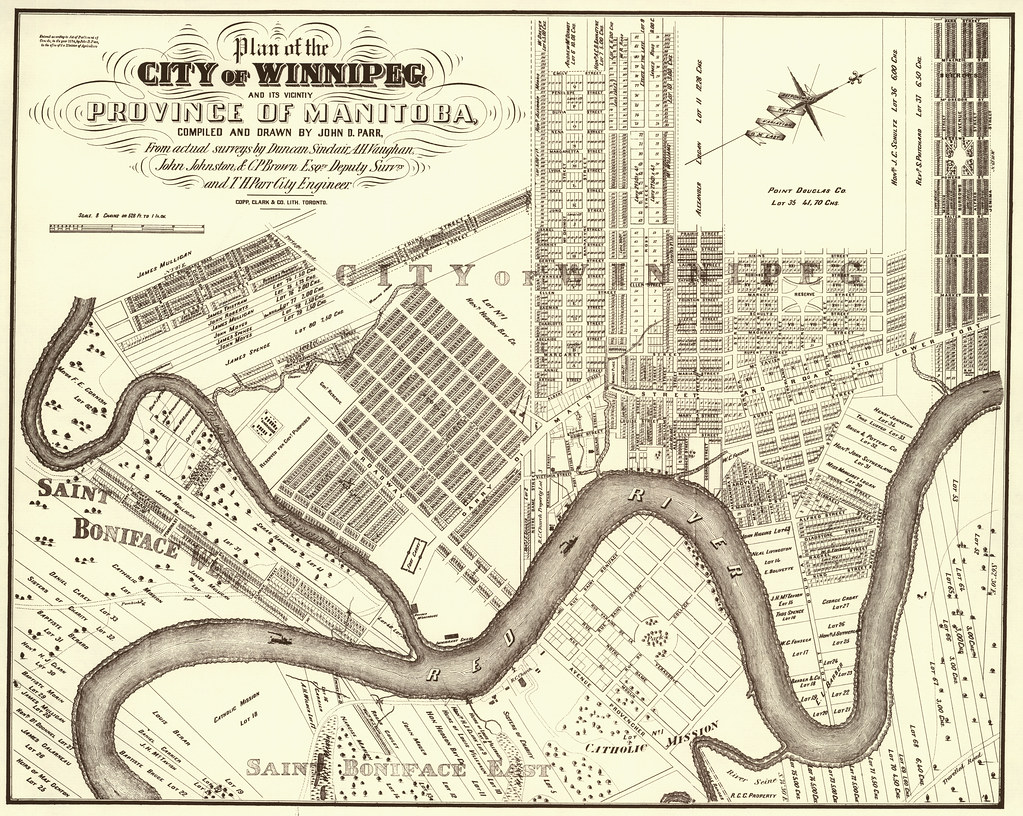 plan of the city of winnipeg and its vicinity  1874
