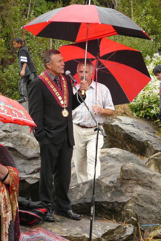 Kokshorn : Mayor Tony Kokshoorn at Blackball Mine  Grey District Mayor