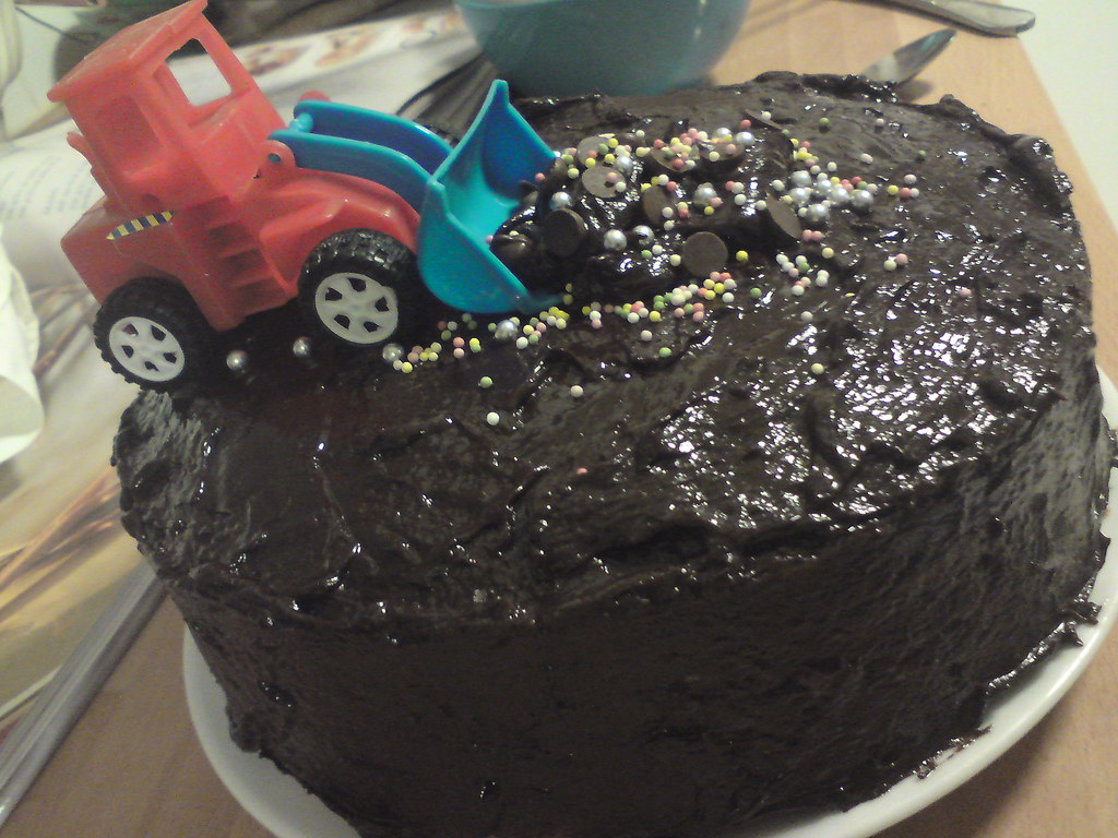 Birthday Cake Digger Design