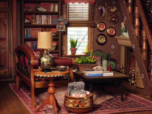 Living room afternoon the family portraits really are Miniature room boxes interior design