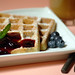 Blueberry waffle with blueberry sauce