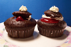 Chocolate cherry cupcakes | by Gingercat2008