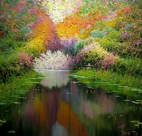 Japanese Garden By Taras Loboda Original Painting