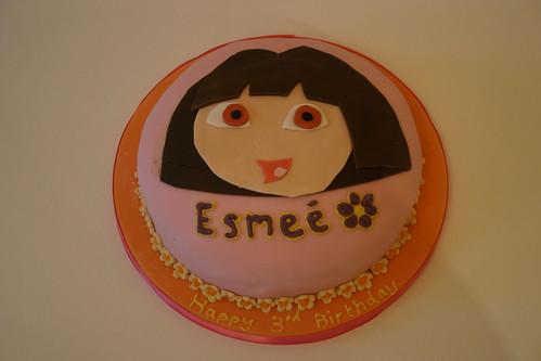 Dora Cake Recipe In English: Dora Birthday Cake. Vanilla Sponge With