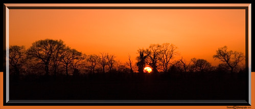 Sunset Cropped &  Framed | by Vonnie red