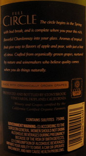 Full Circle 2006 Chardonnay (back) | by 2 Guys Uncorked