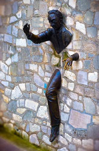 The Man Who Could Walk Through Walls Bronze Sculpture