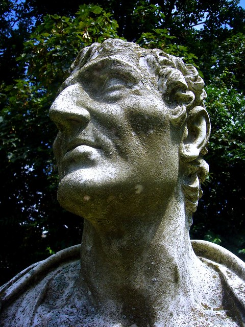 Portrait bust of a roman caesar