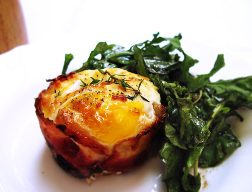 Bacon-Wrapped Baked Eggs with Cream Cheese Biscuits and Ar ...