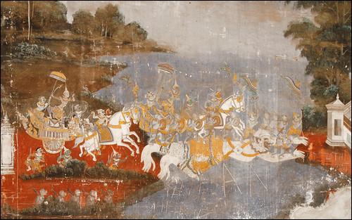 Peintures murales sur le ramayana khmer palais royal for Peintures murales