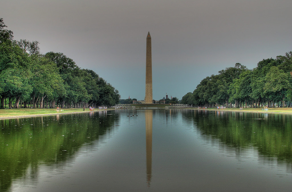 washington monument and the reflecting pool i took this. Black Bedroom Furniture Sets. Home Design Ideas