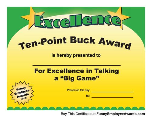gag certificates