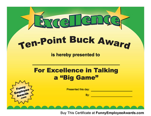 Silly Certificates -102 Fun Awards