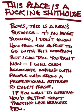 """This is a man's business"" 