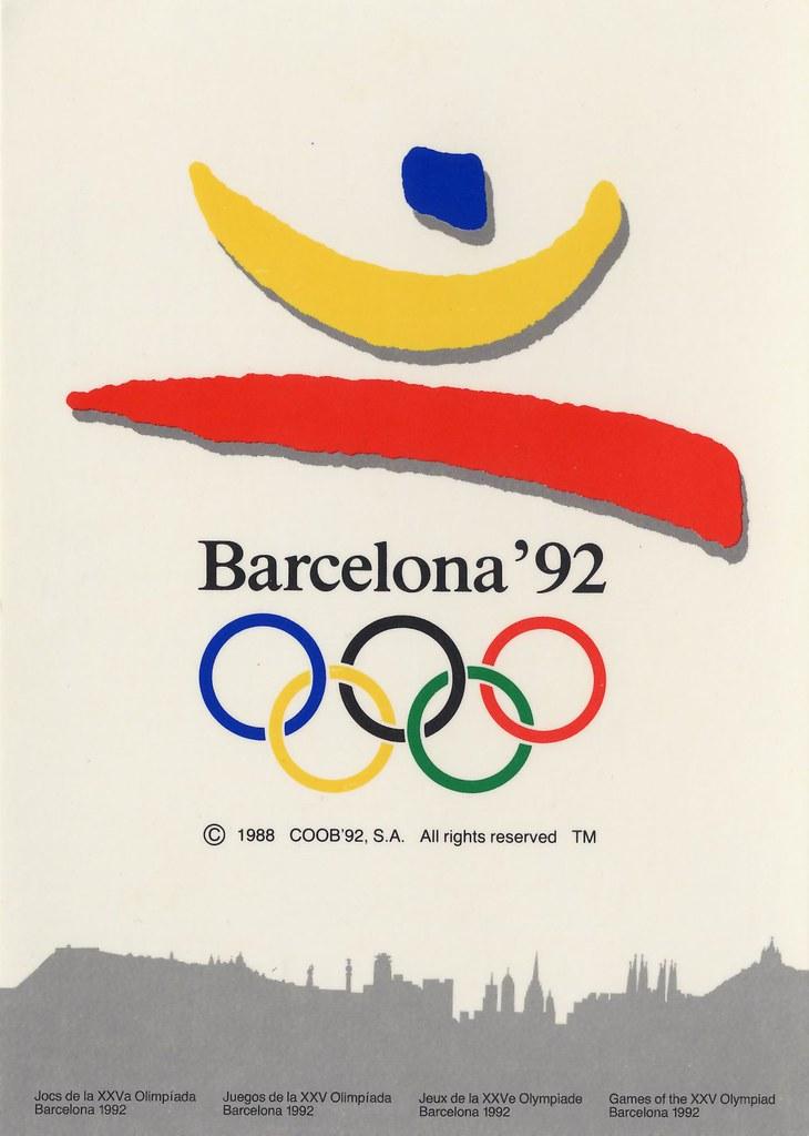 Emblema Oficial Juegos Olimpicos Barcelona 1992 Jordi Miralles