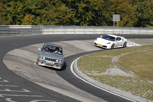 E30 On Carousel Nurburgring E30 318is Cornering Hard On