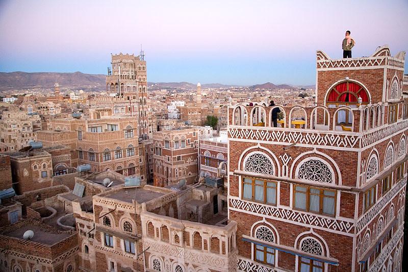 Sunrise - Sana'a, Yemen | Sana'a - the capital of Yemen. A ...