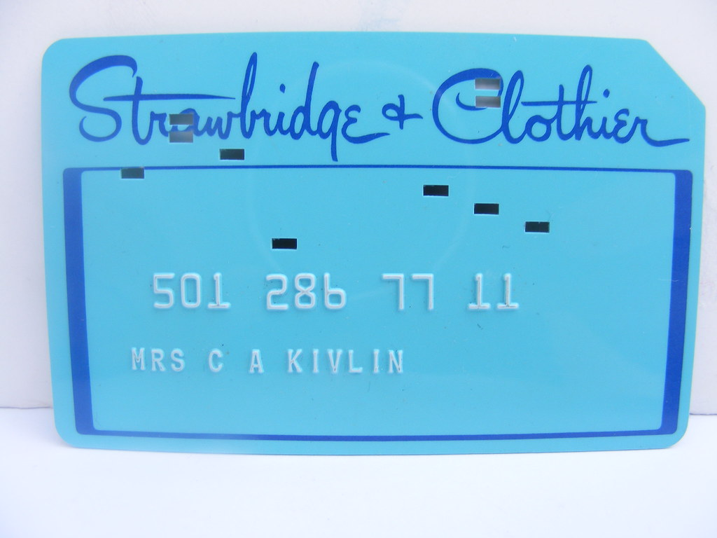 Strawbridge Clothier Credit Card Old Strawbridge