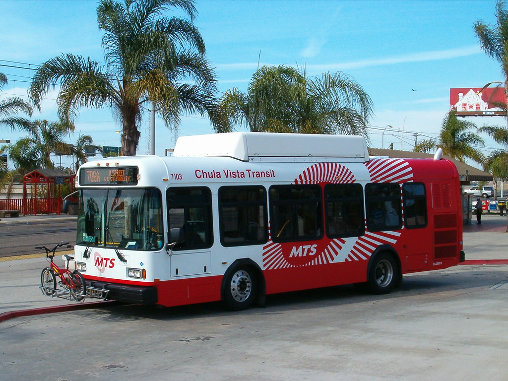 Chula Vista Transit Bus 7103 On Route 706a A Chula Vista