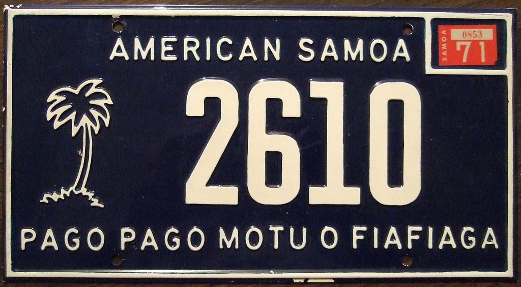 License Plate Camera >> AMERICAN SAMOA 1971 passenger plate PAGO PAGO MOTU O FIAFI… | Flickr