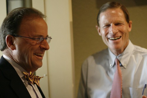 CPBN President Jerry Franklin and Attorney General Richard Blumenthal | by WNPR - Connecticut Public Radio