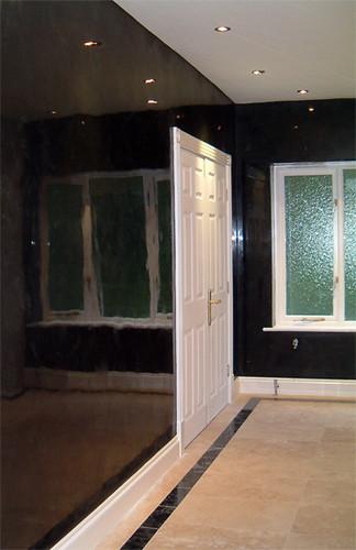 black venetian plaster stucco veneziano flickr. Black Bedroom Furniture Sets. Home Design Ideas