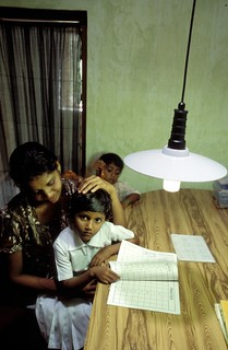 Solar power allows children to study at home late into the evening | by World Bank Photo Collection