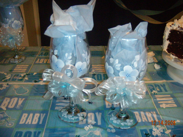 Hand Painted Wine Glasses Baby Shower Favors Zhaked Flickr