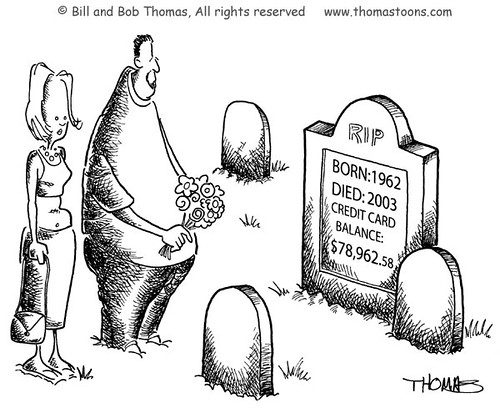 Credit Card Tombstone | Credit card balance displayed on ...