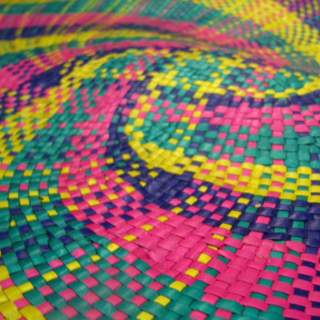 Colorful Banig Handwoven Mat From The Philippines Read