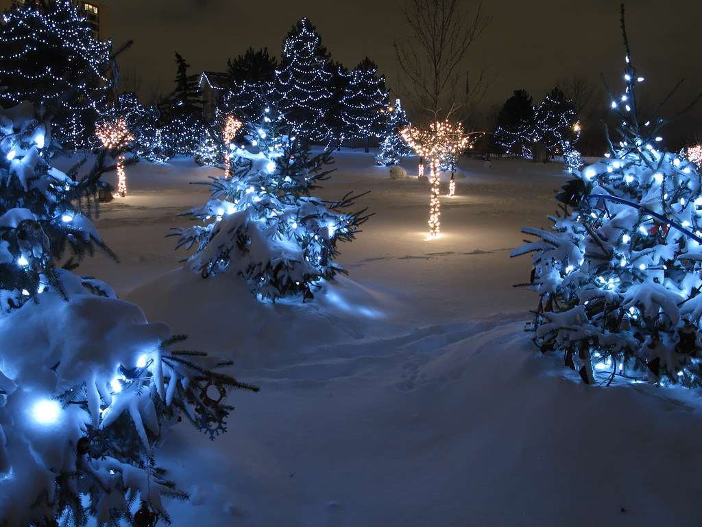 Chinguacousy Park Christmas Lights | Taken after the big sno… | Flickr