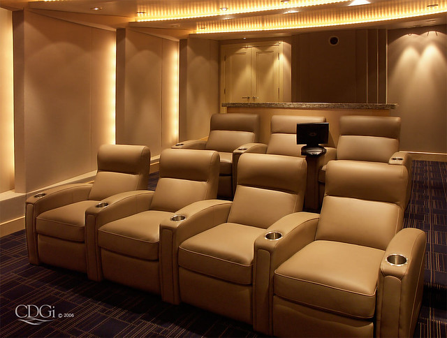 deco theater design by cinema design group - Home Theater Design Group