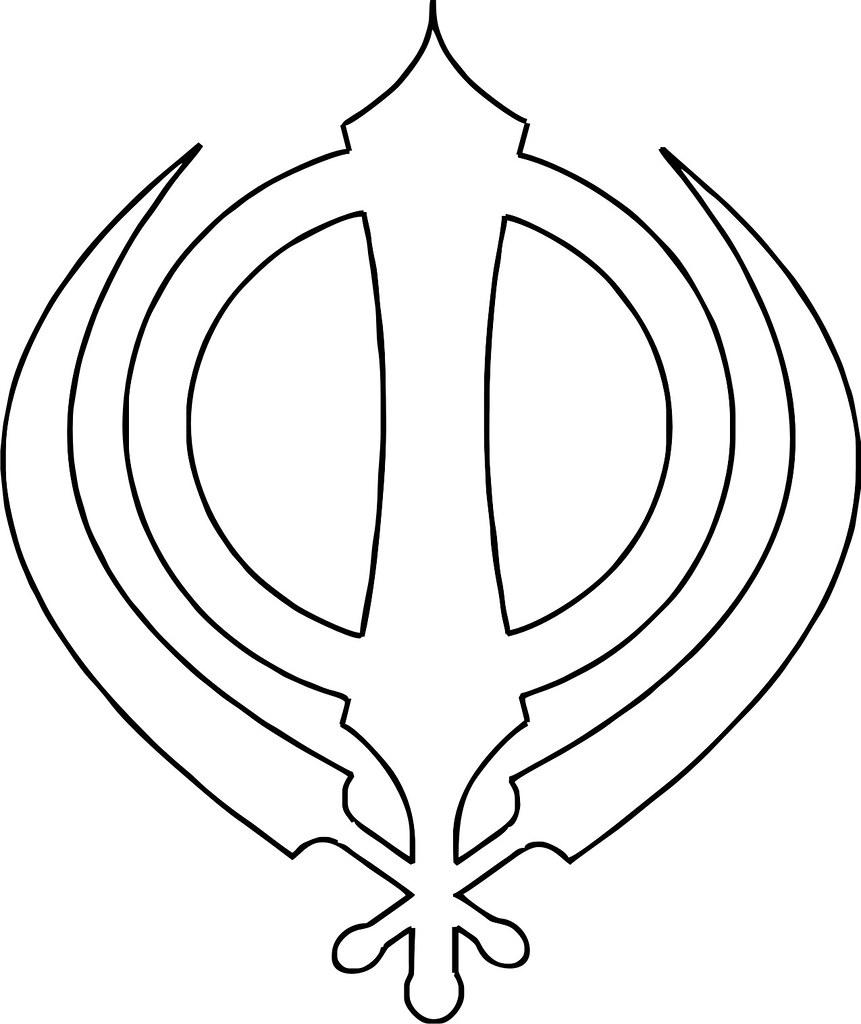 Sikh symbol khanda outline the insignia of the khalsa t flickr sikh symbol khanda outline by hari singh biocorpaavc