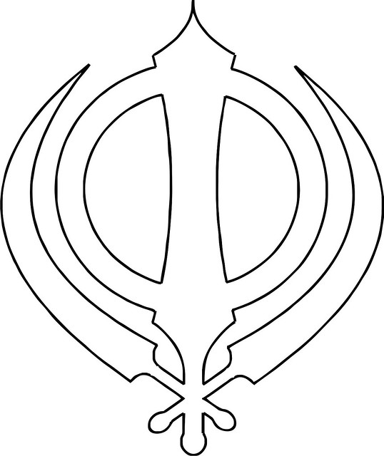 sikh symbol khanda outline the insignia of the khalsa