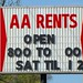 IN, Marion-AA Rents Sign