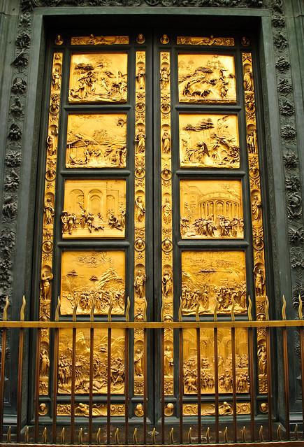 Golden Door , Florence   Italy , Basilica di Santa Maria ...