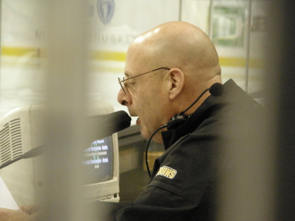 071220 bruins announcer | I believe this is Jim Martin, P.A.… | Flickr