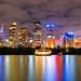 Sydney Australia Skyline night shot HDR