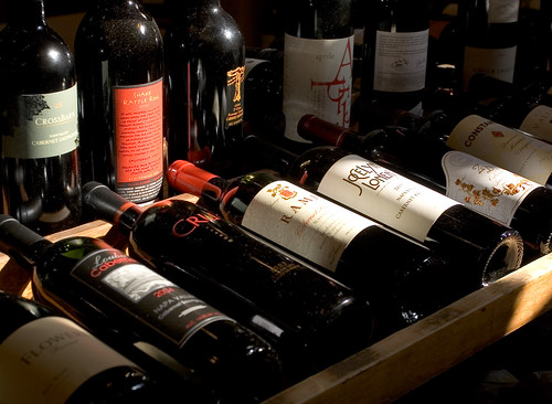 Red wines at Oakville Grocer