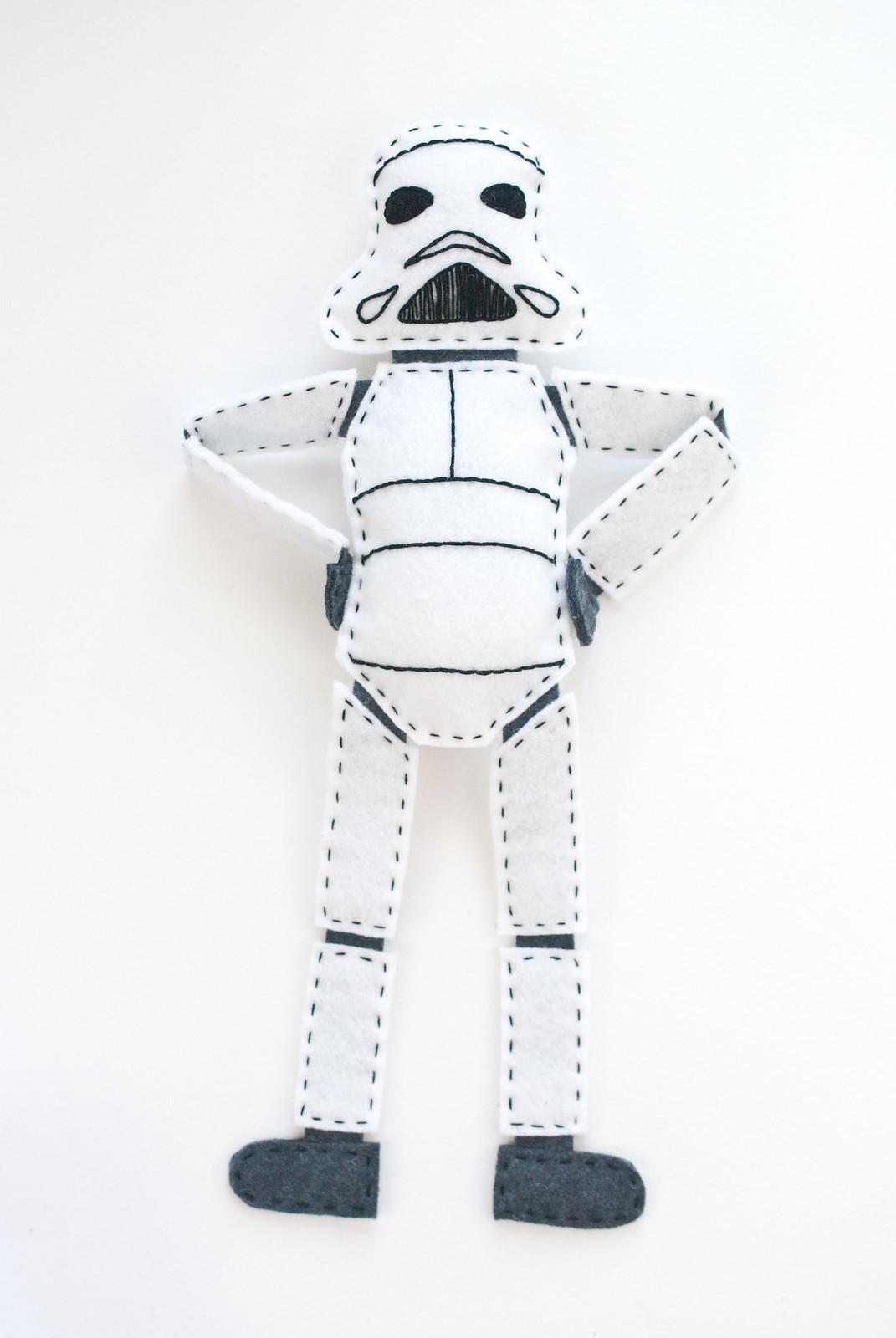 Felt Stormtrooper Doll